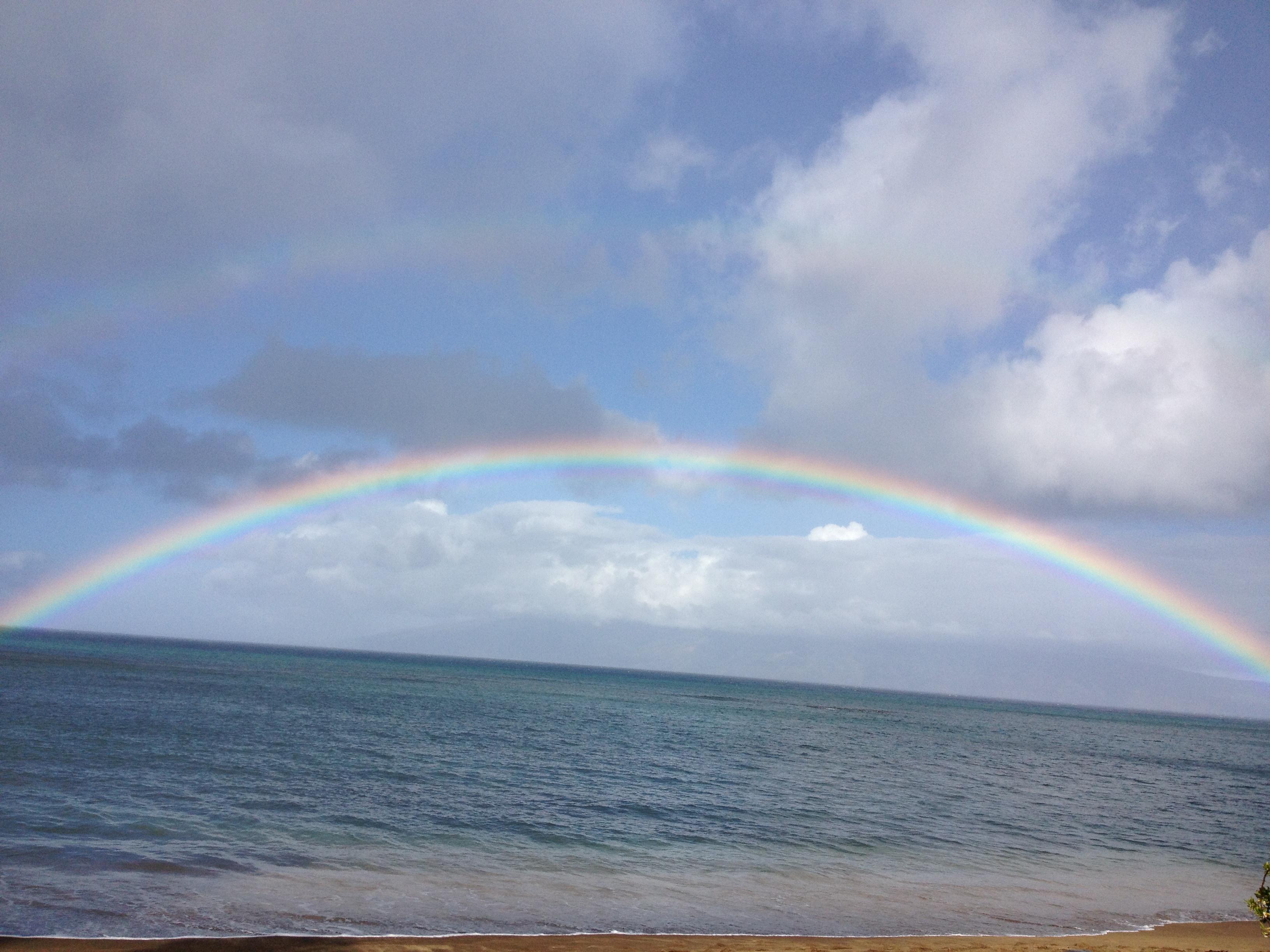Rainbow, Maui, 2012